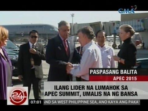 24Oras: Ilang lider na lumahok sa APEC summit, umalis na ng bansa