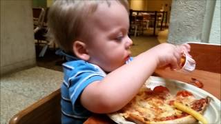 Baby Eats Pizza and French Fries with Pizza Dance Song