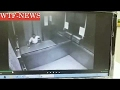 Horrifying moment a man is CRUSHED by an elevator in Taiwan   18+