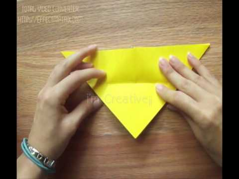 Mariposa de pap... How To Make Origami Butterfly