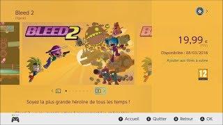 BLEED 2 : trailer Nintendo switch