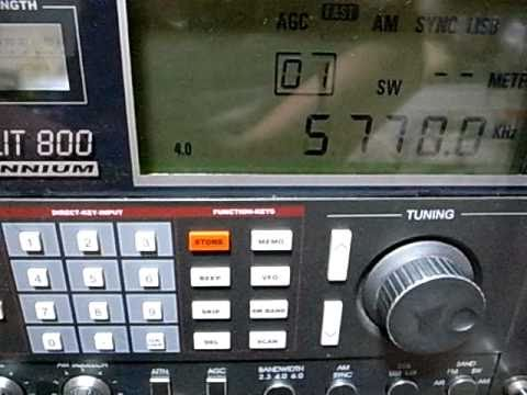 Burmese Rock ! Myanmar Defence Forces Broadcasting 5770kHz Grundig Satellit 800