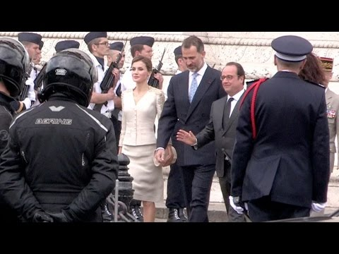 The Spanish royal couple, Queen Letizia and King Felipe VI, is back in Paris