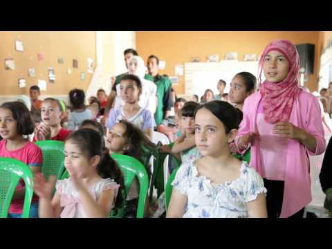 Drawing smiles on the faces Syrian refugee children in Lebanon