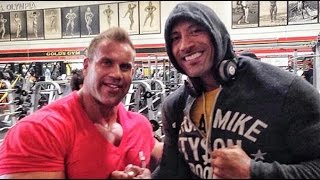 "Jay Cutler Arms Workout At Gold's Gym With Dwayne ""The Rock"" Johnson"