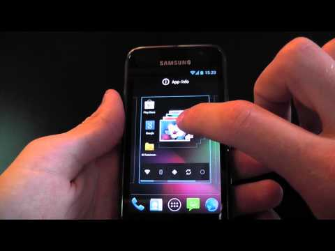 Android 4.1.1 Jelly Bean CyanogenMod 10 auf dem Samsung Galaxy S I9000