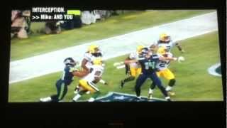 Packers Vs. Seahawks CONTROVERSIAL CALL 9-24-12... TD or INT?