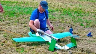 RC PULSOJET HE-162 WITH PULSO ENGINE FLIGHT DEMONSTRATION