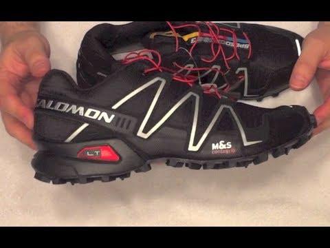 Salomon Shoes Black Red