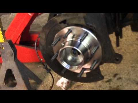 Ford Super Duty hub bearing replacement - Driver side ...