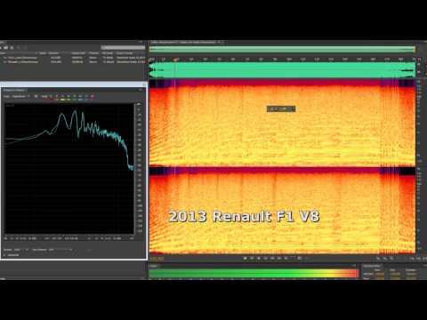 Renault F1: 2013 V8 versus 2014 V6 turbo - noise sound