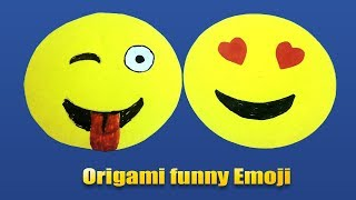 Origami funny Emoji - How To Make Emoji Corner Bookmark