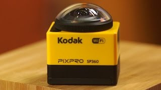 The palm-sized Kodak Pixpro SP360 uses its big lens to capture immersive video