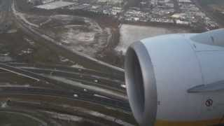 Landing Ryanair Eindhoven Airport (good view) [HD]