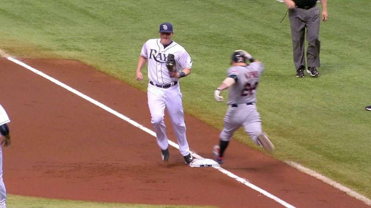 CLE@TB: Krauss fields hot shot for first out of game
