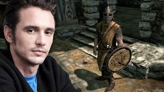 James Franco Reads Bad Video Game Lines as Tommy Wiseau - Up At Noon Live!