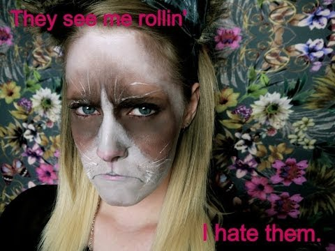 Halloween makeup tutorial - Grumpy Cat