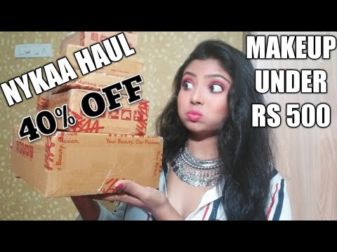 Nykaa Festive haul 2018 || upto 40% off || makeup under 500