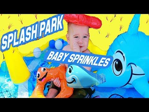 BABY ELI~ Baby Sprinkles Water Park SPLASH PAD POOL Summer Activity Park Water Family Fun Ball Pit