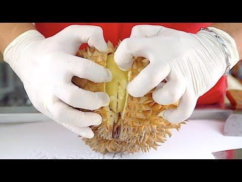 EXCLUSIVE!! Durian Ice Cream Rolls