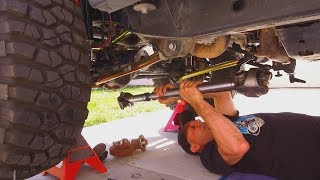 Jeep Wrangler JKU Driveshaft Upgrade HOW TO DIY - Tom Wood's and Hells Revenge Highlight