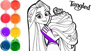 How to Draw & Color Rapunzel from Tangled 2 | Drawing Makeup Tutorial | Kids Learn desenho Colors