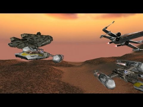 Star Wars Rogue Squadron mission 5 Liberation of Gerrard Millennium Falcon