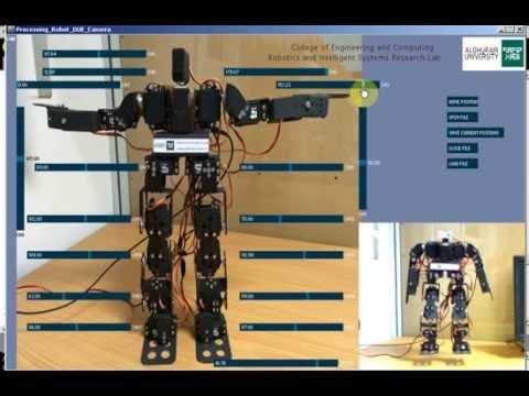 AGU 17 DOF Humanoid Robot (AGUMS-1) GUI with Monitoring Camera