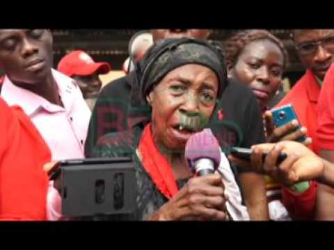 Wailing Ghanaians on the streets of Koforidua