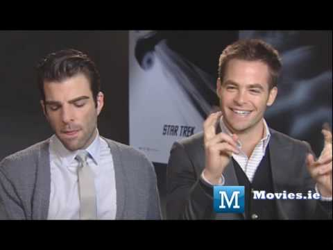 Kirk & Spock talk STAR TREK - Chris Pine & Zachary Quinto