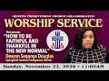 Presbyterian Churches of SE Queens NY Collaborative Service for 11-22 2020