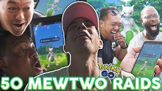 WE DID 50 SHINY MEWTWO RAIDS IN POKÉMON GO