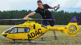 GIANT XXL RC MODEL SCALE HELICOPTER EC135 EUROCOPTER / Flugfest Damelang 2017
