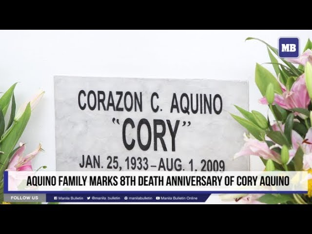 Aquino family marks 8th death anniversary of Cory Aquino