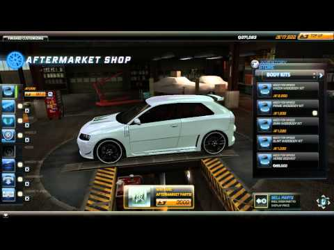 Audi A3 in need for speed world ( online game )