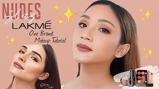 NUDES SLAY LOOK | LAKME ONE BRAND TUTORIAL - FULL REVIEW