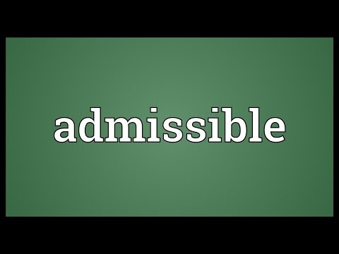 Header of admissible