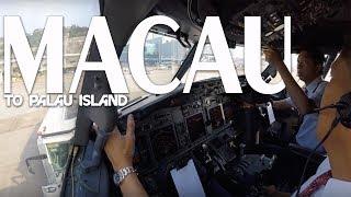 Cockpit View - from Macau to Palau Island