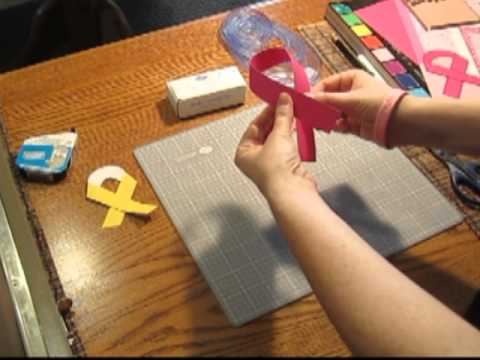 Scrapbooking Tutorial #5: Breast Cancer Awareness and Paper Ribbon Embellishments Video