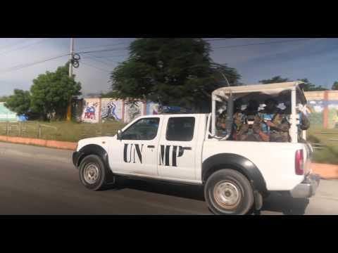 Heavily-Armed U.N. Troops Protect Haiti Ballots