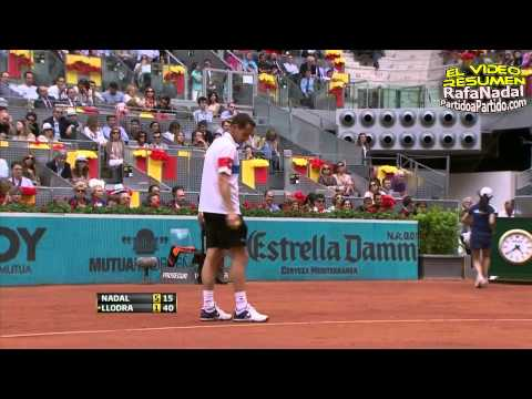 [HD] Rafael Nadal vs Michael Llodra || Madrid 2011 QF