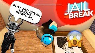 DARES ON ROBLOX! *PLAYING JAILBREAK UPSIDE DOWN*