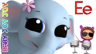 Learn Phonics Letter E   Letter Recognition   Ellie the Elephant