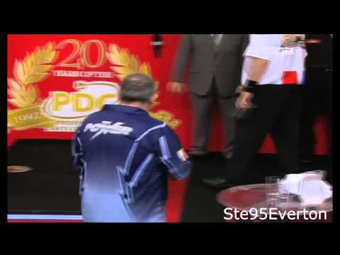 Phil Taylor and Raymond van Barneveld (FIGHT/ARGUMENT 2012)