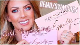 REVOLUTION x THE EMILY EDIT The Wants & Needs Palette   Demo/Tutorial & First Impressions