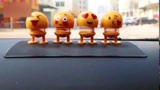 Car Interior Simulation Shaking Head Toy Swinging Emoji Expression Decor Ornament