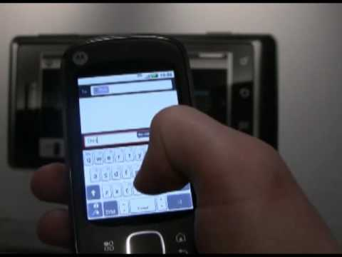 Motorola Quench Android Motoblur hands-on video (2)