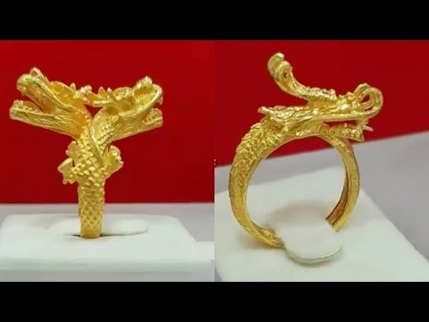 Latest Gold Ring Dragon Designs For Men