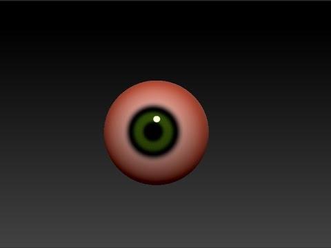 Как сделать глаз в Zbrush! - Смотреть видео на live-kino.ru
