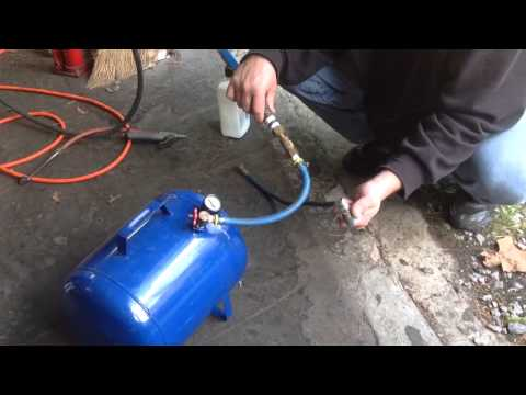 New way to fill air tank quick and easy